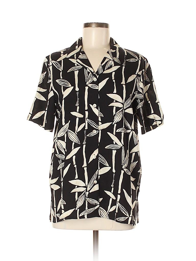 Alfred Dunner Women Short Sleeve Button-Down Shirt Size 8
