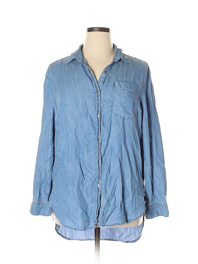 Andrea Jovine Women Long Sleeve Button-Down Shirt Size XL