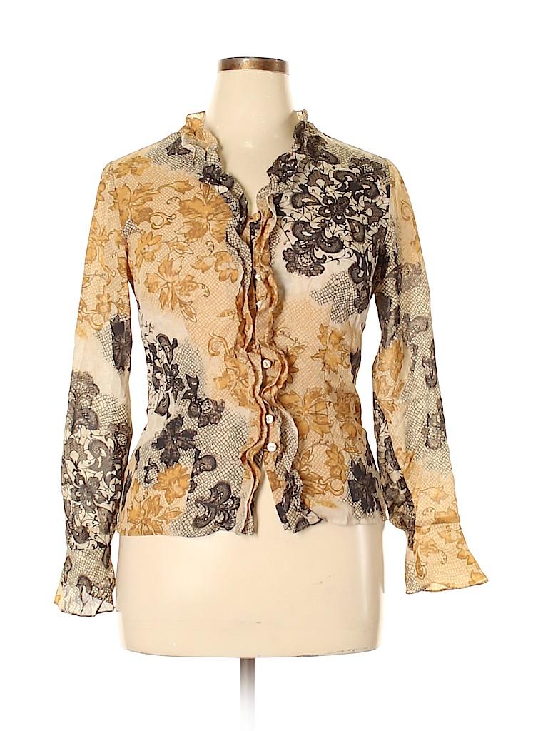 Apostrophe Women Long Sleeve Blouse Size 10