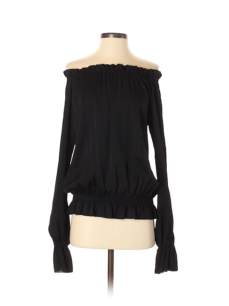 Emerson Thorpe Women Long Sleeve Silk Top Size XS