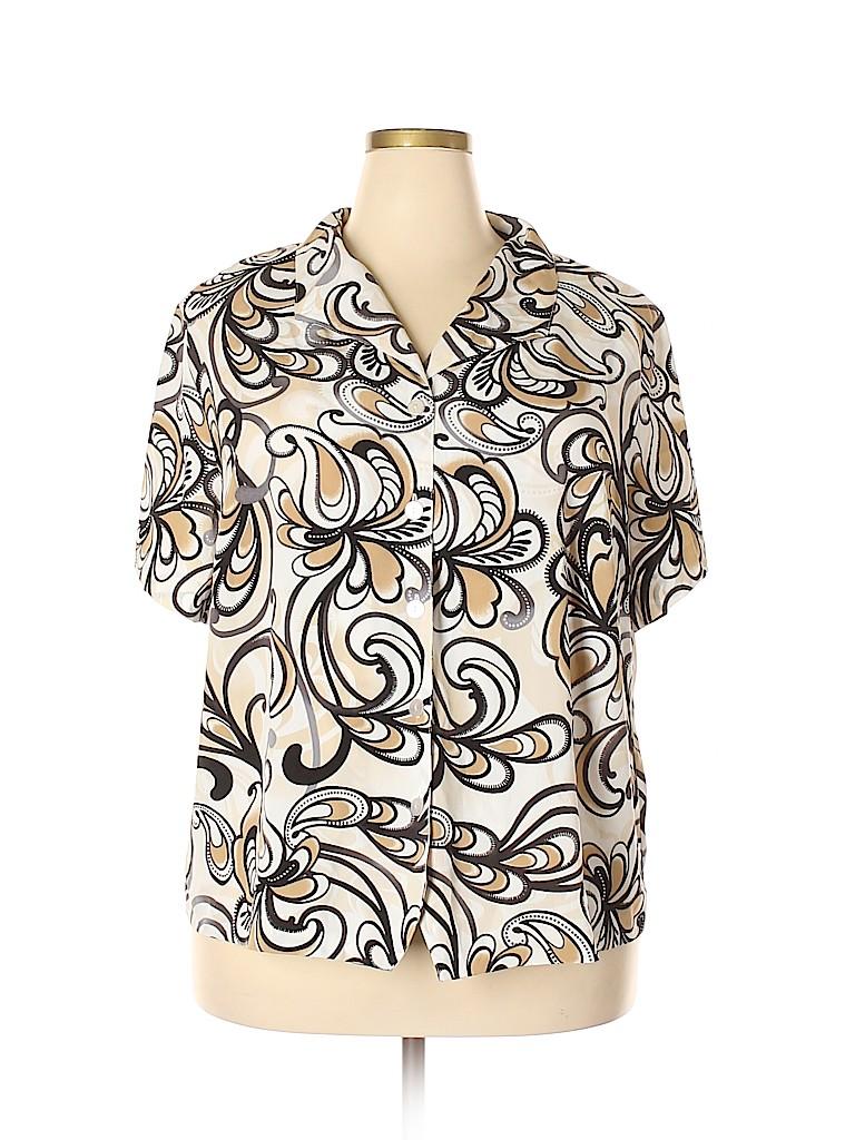 Alfred Dunner Women Short Sleeve Blouse Size 20 (Plus)