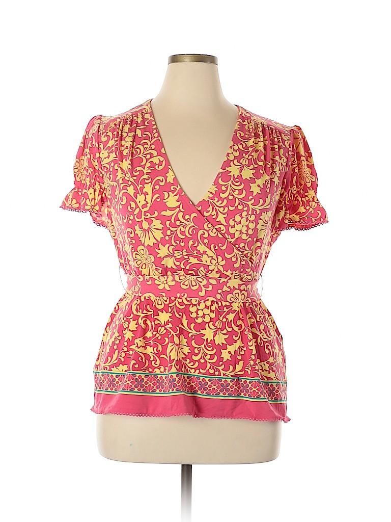 Nicole by Nicole Miller Women Short Sleeve Top Size XL