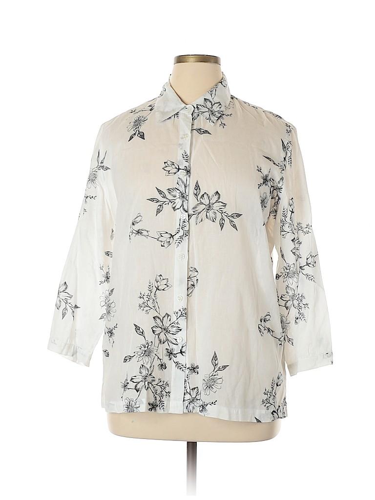 Sag Harbor Women Long Sleeve Blouse Size XL
