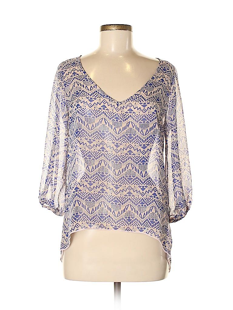 Renee C. Women 3/4 Sleeve Blouse Size M