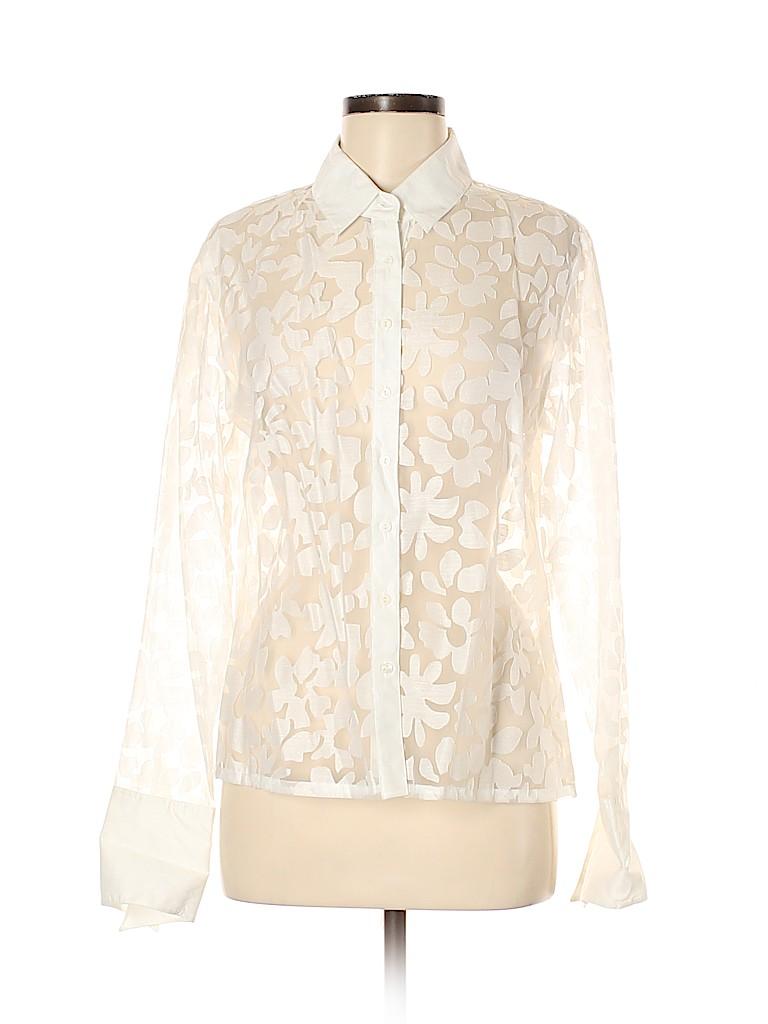 Saint Tropez West Women Long Sleeve Blouse Size M