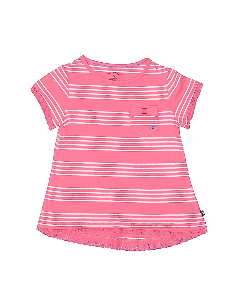 Nautica Girls Short Sleeve T-Shirt Size 5