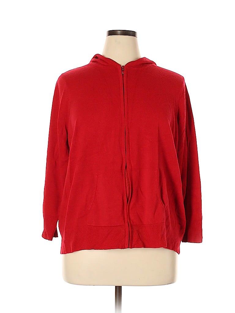 Fashion Bug Women Zip Up Hoodie Size 22 - 24 (Plus)