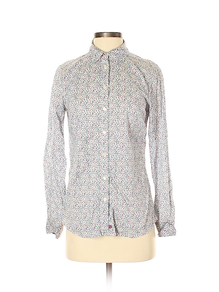 G.H. Bass & Co. Women Long Sleeve Button-Down Shirt Size S