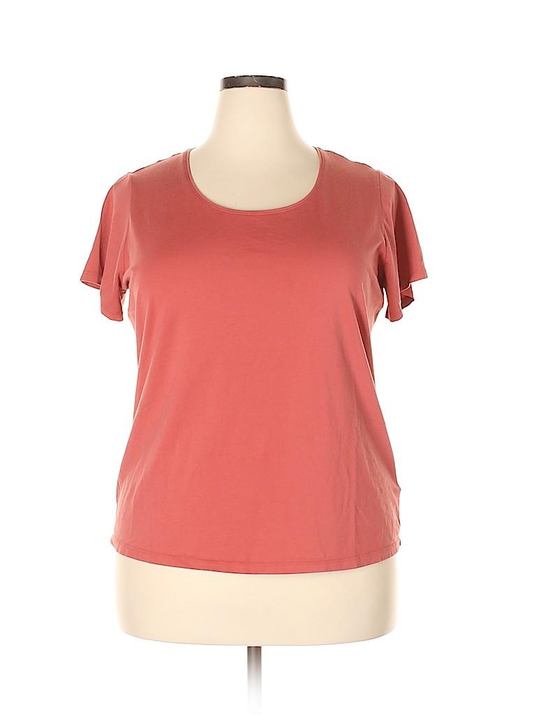 Lands' End Women Short Sleeve T-Shirt Size 1X (Plus)