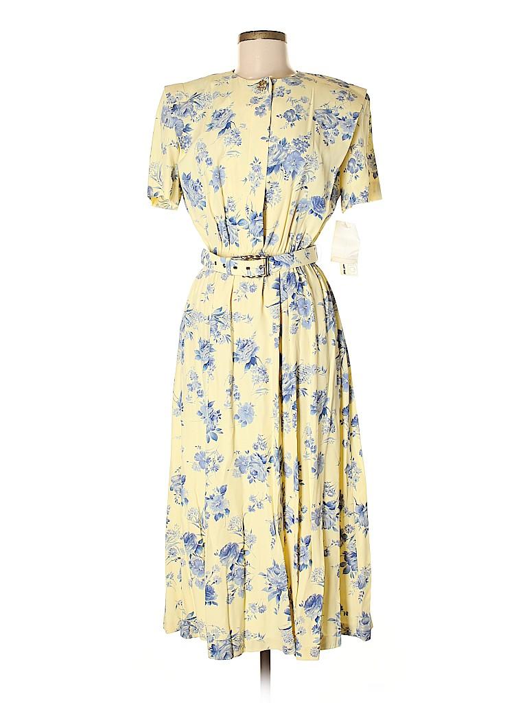 Leslie Fay Women Casual Dress Size 8 (Petite)