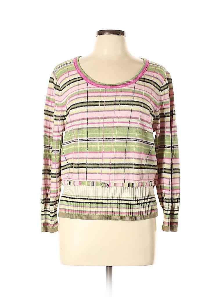 Sigrid Olsen Women Silk Pullover Sweater Size XL