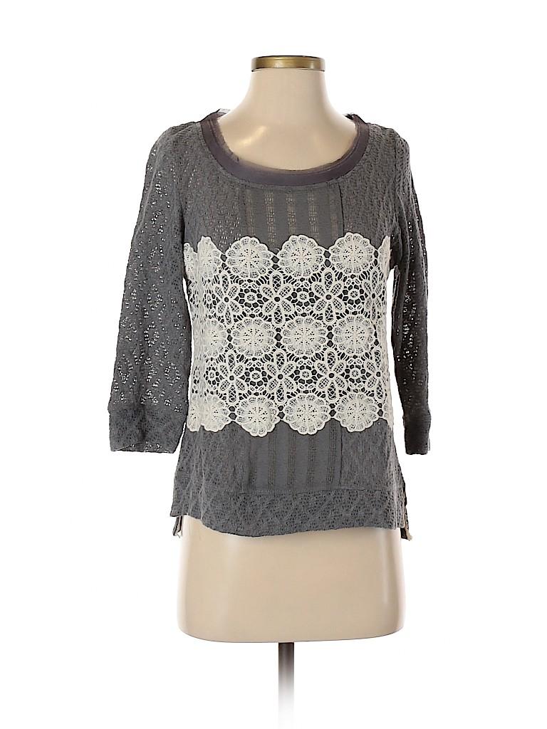 Meadow Rue Women 3/4 Sleeve Top Size S