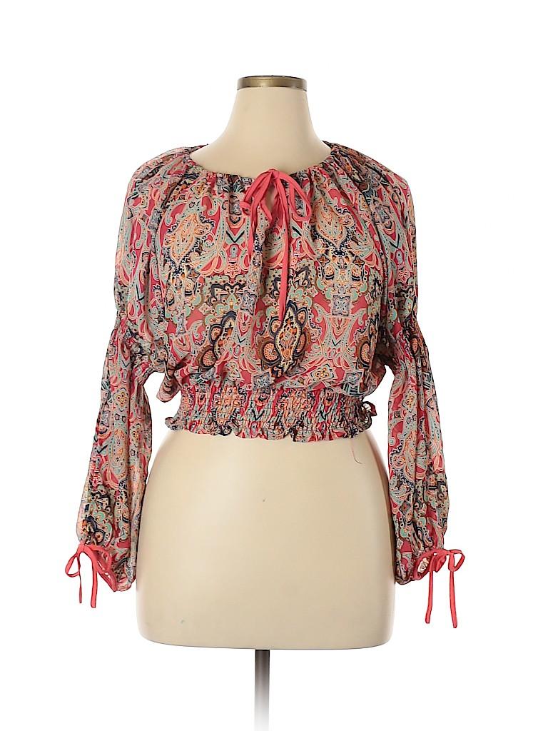 Cotton Express Women Long Sleeve Blouse Size XL