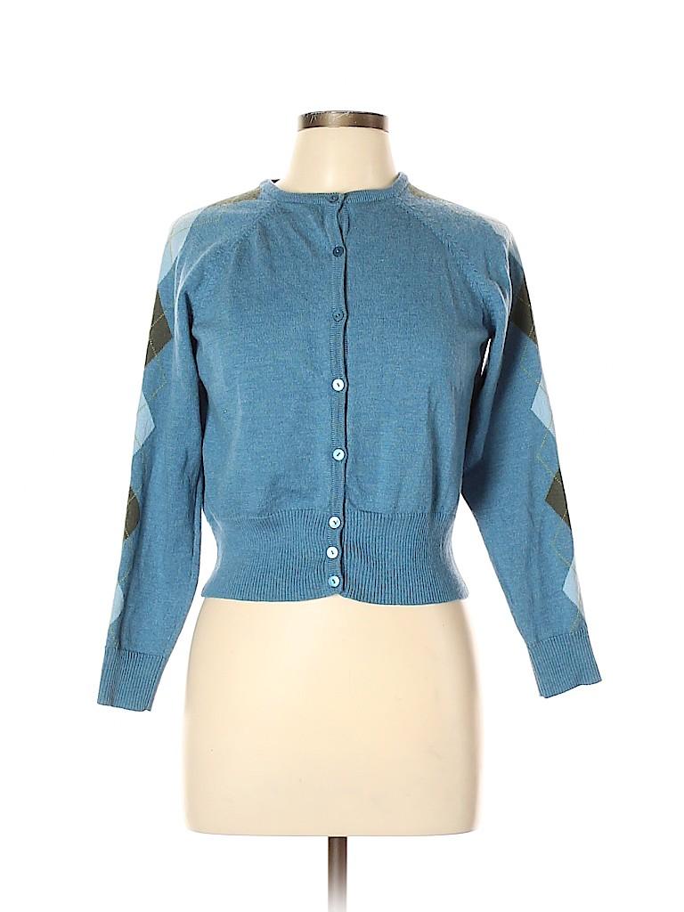 Pendleton Women Wool Cardigan Size L (Petite)