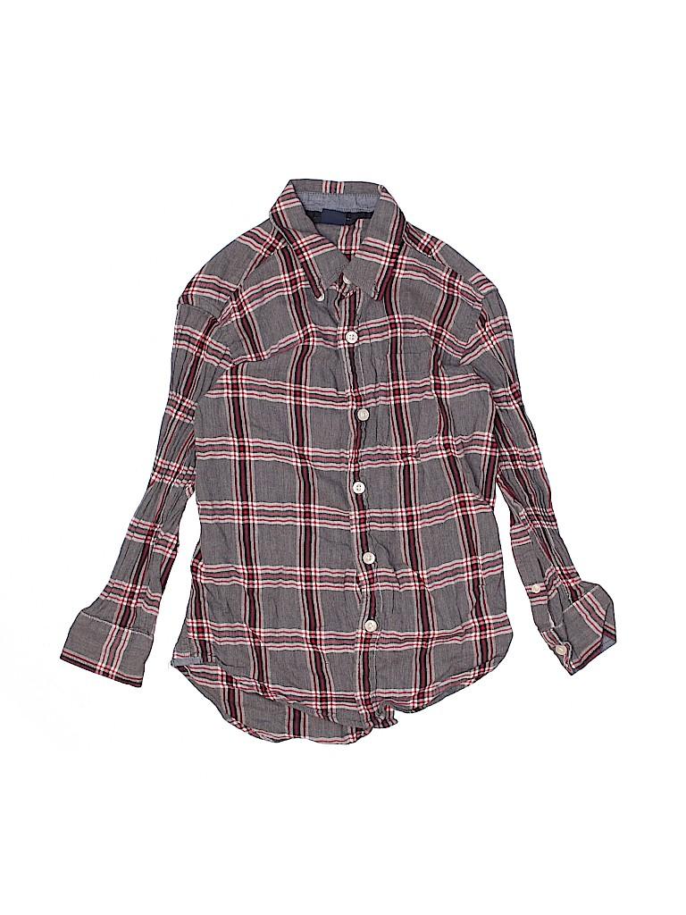 Gap Kids Girls Long Sleeve Button-Down Shirt Size Small youth