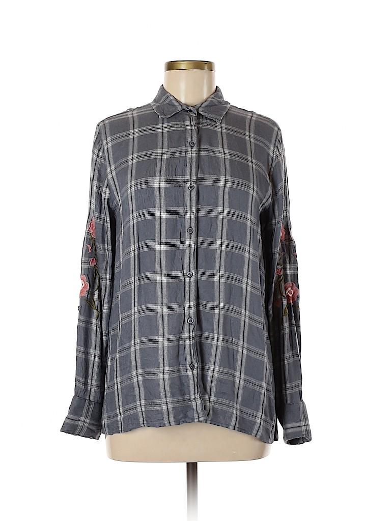 Harper Women Long Sleeve Button-Down Shirt Size M