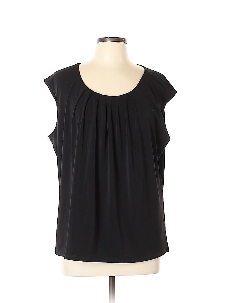 Kasper Women Short Sleeve Top Size 2X (Plus)