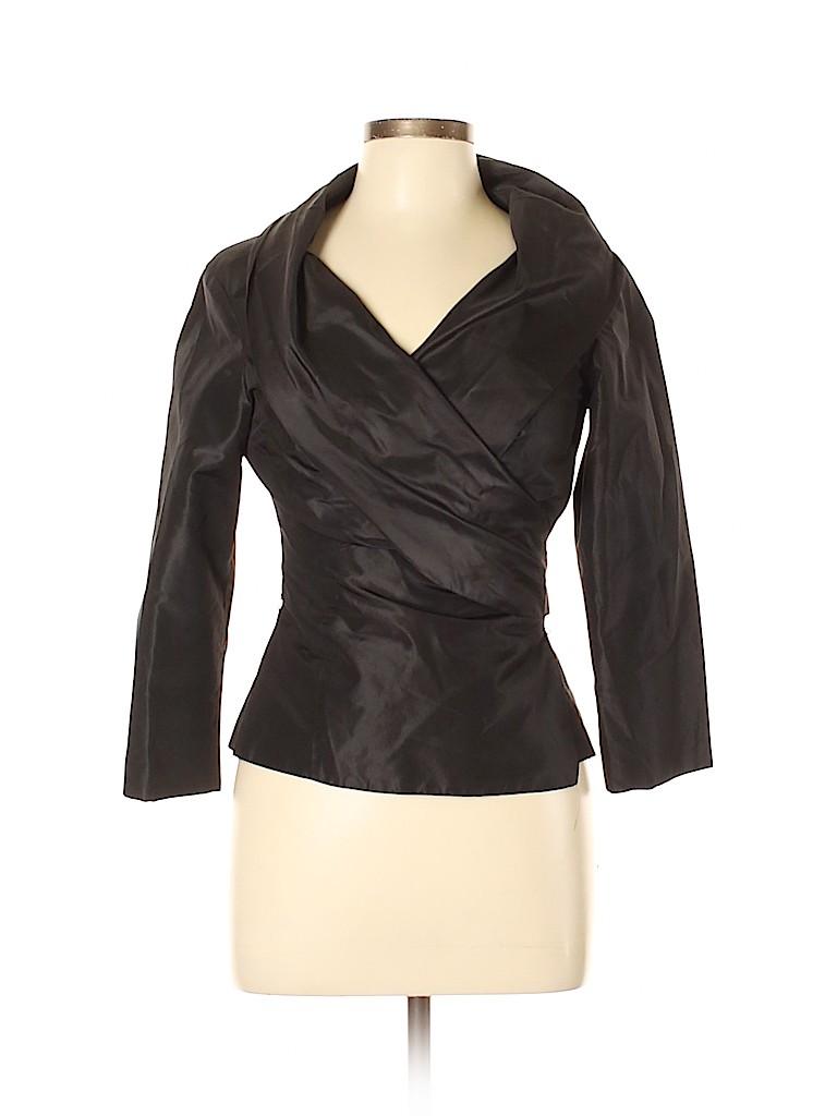 Carlisle Women 3/4 Sleeve Silk Top Size 6