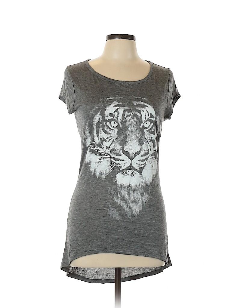 Rue21 Women Short Sleeve T-Shirt Size L