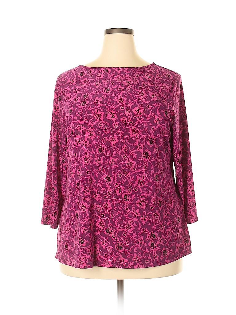 Croft & Barrow Women 3/4 Sleeve Top Size 1X (Plus)