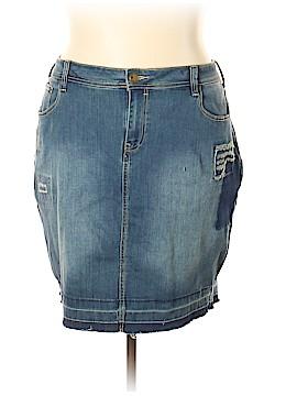8ea46444a978 Lane Bryant Denim Skirt Size 24 (Plus)
