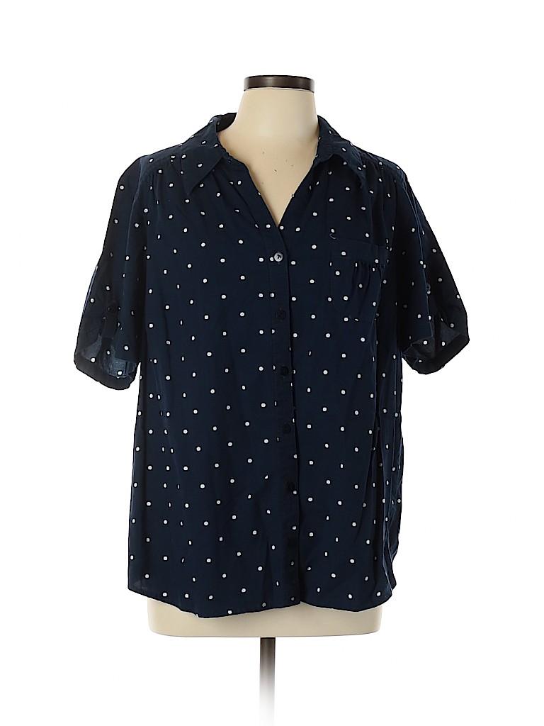Gloria Lance Women Short Sleeve Button-Down Shirt Size 2X (Plus)