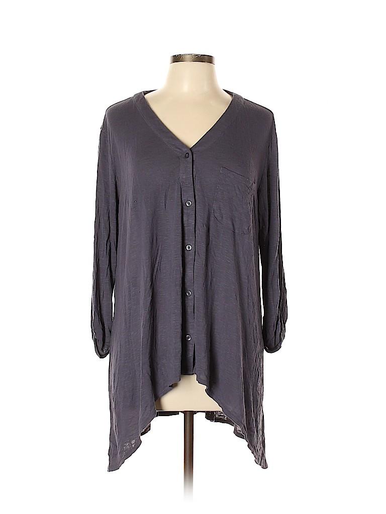 Andrea Jovine Women 3/4 Sleeve Top Size L