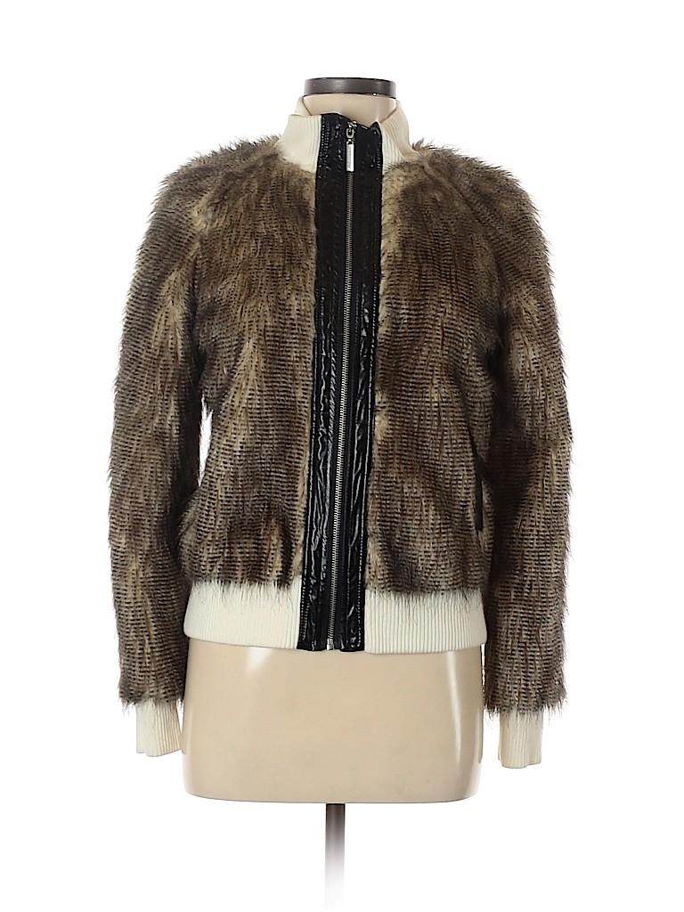 VERTIGO Women Faux Fur Jacket Size M