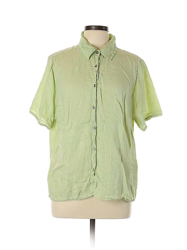 Avenue Women Short Sleeve Button-Down Shirt Size 18 - 20 Plus (Plus)