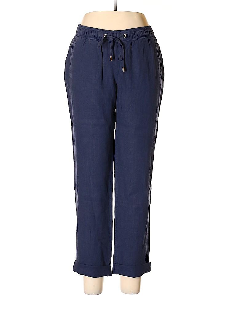 Lilly Pulitzer Women Linen Pants Size L