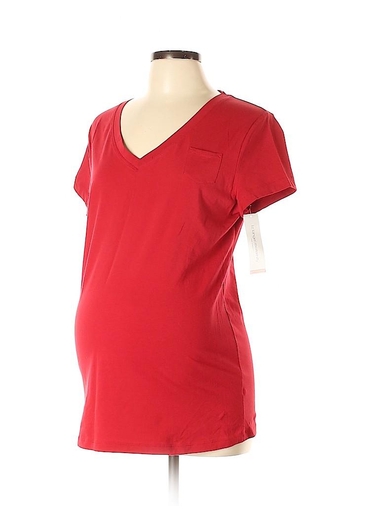 Liz Lange Maternity for Target Women Short Sleeve T-Shirt Size L (Maternity)