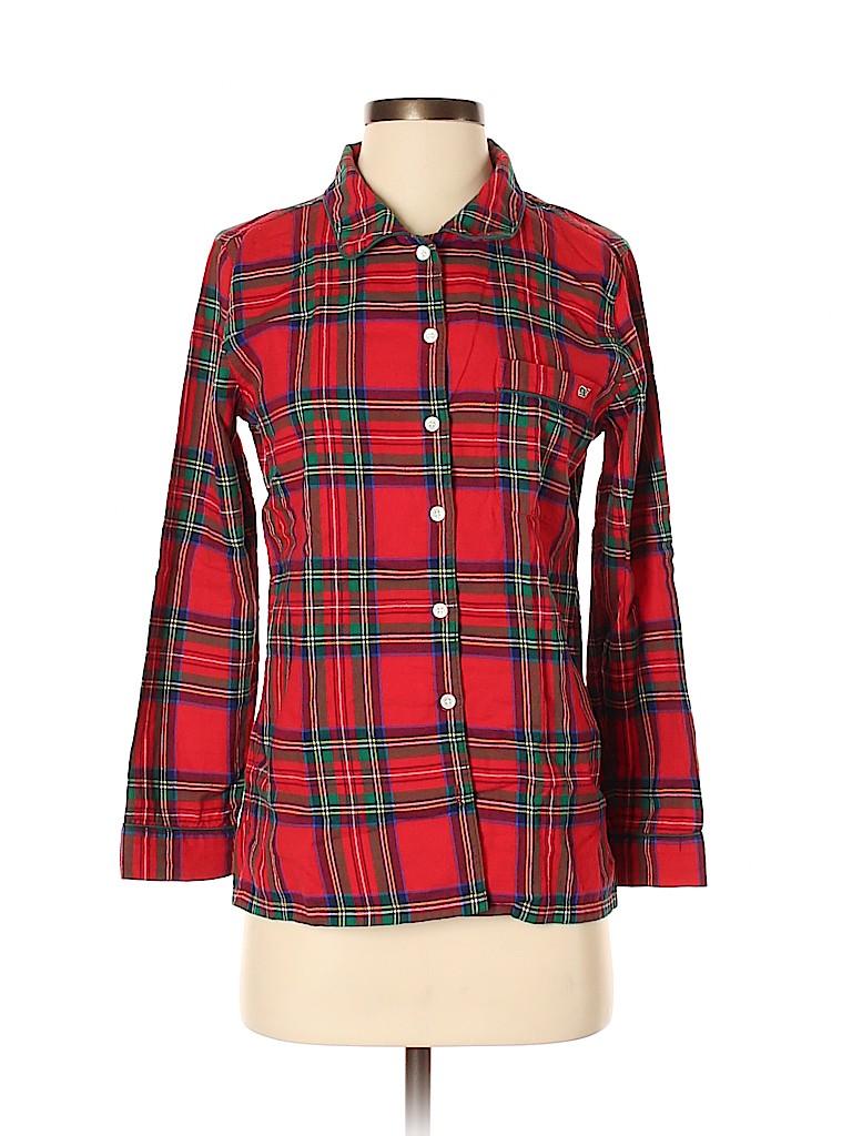Vineyard Vines Women 3/4 Sleeve Button-Down Shirt Size XXS