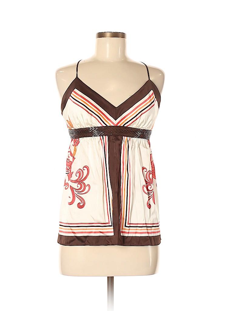 Arden B. Women Sleeveless Silk Top Size M