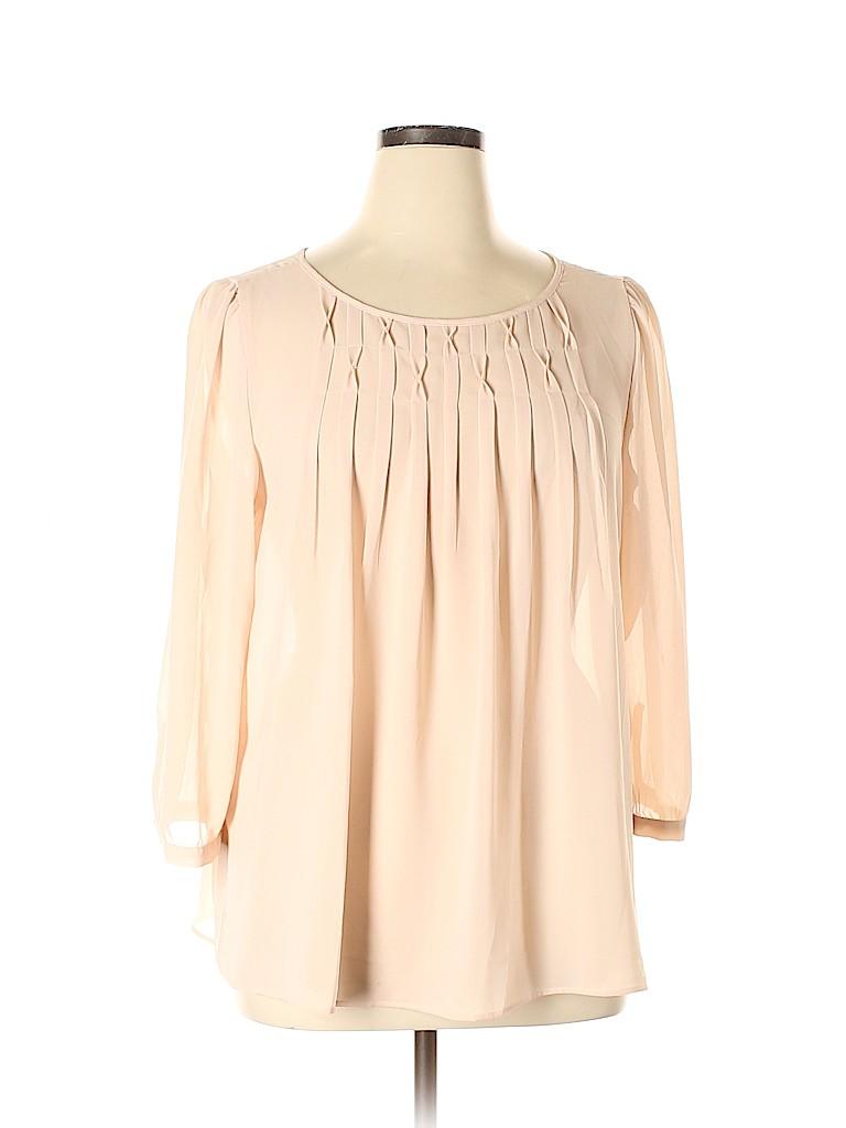 Ann Taylor LOFT Women 3/4 Sleeve Blouse Size XL