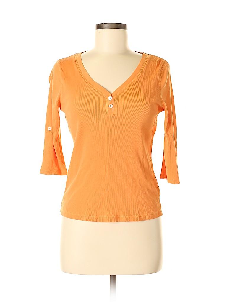 Nautica Women 3/4 Sleeve Henley Size M