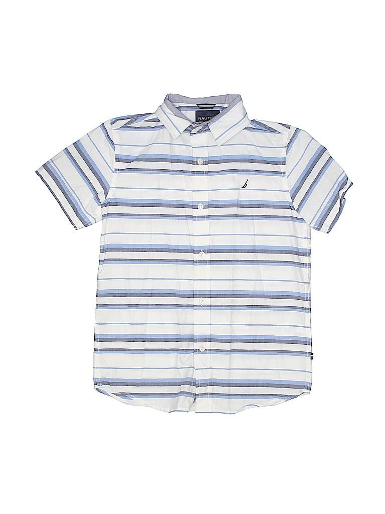 Nautica Boys Short Sleeve Button-Down Shirt Size 10 - 12