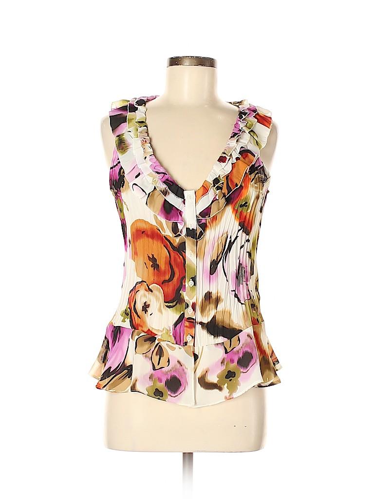Sunny Leigh Women Short Sleeve Blouse Size M
