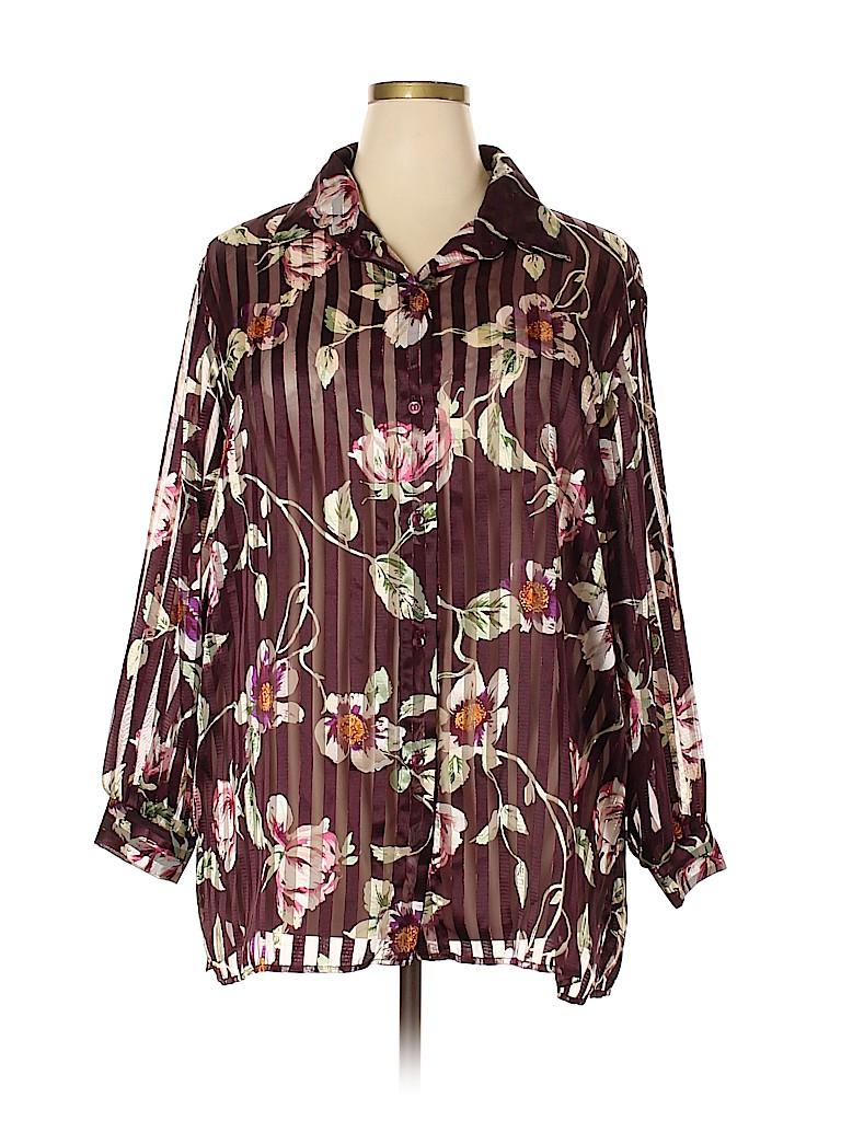 Maggie Sweet Women Long Sleeve Blouse Size 2X (Plus)