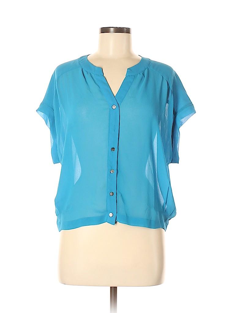 Patterson J. Kincaid Women Short Sleeve Blouse Size M