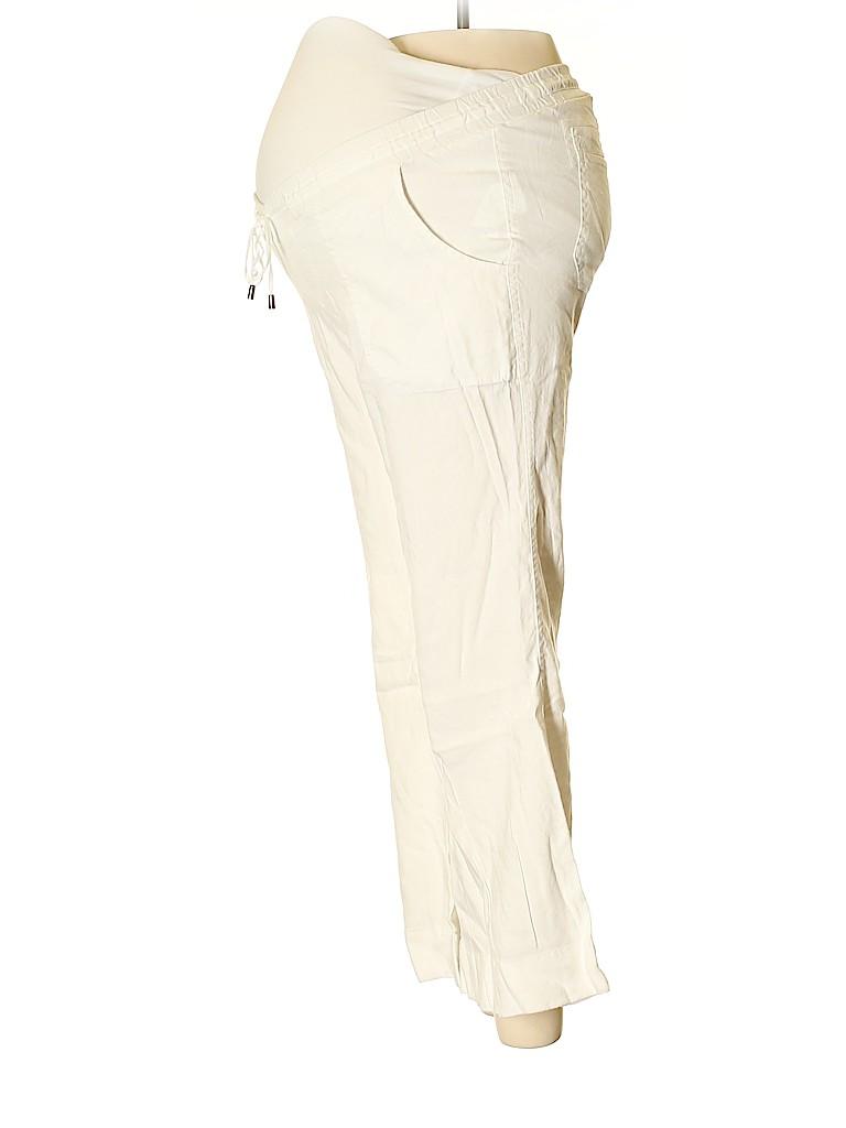 A Pea in the Pod Women Linen Pants Size XS (Maternity)