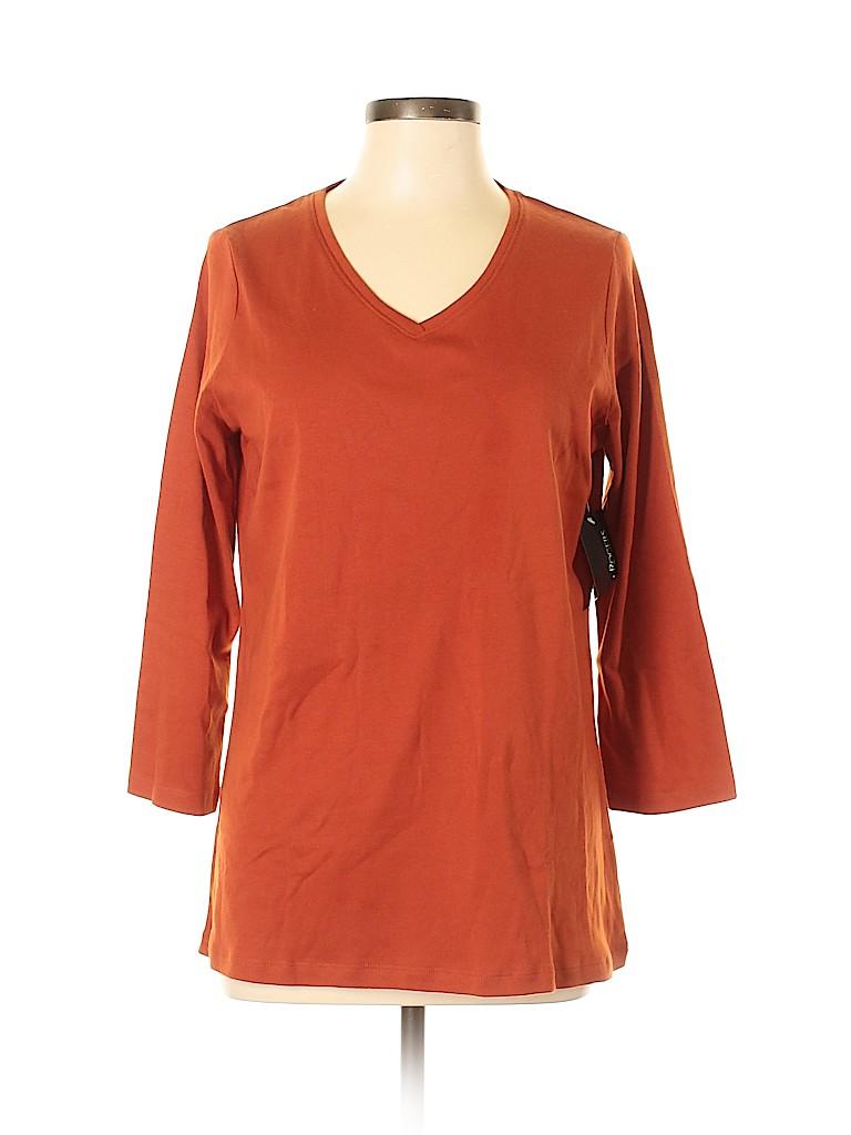 Kim Rogers Women 3/4 Sleeve T-Shirt Size L