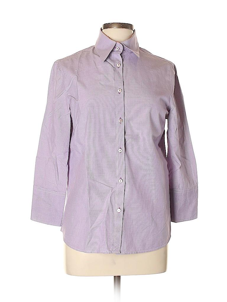 J. McLaughlin Women 3/4 Sleeve Button-Down Shirt Size 10