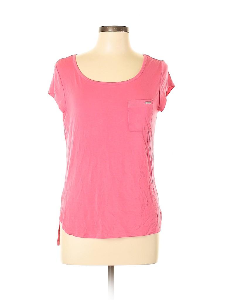 Nicole Miller Women Short Sleeve T-Shirt Size L