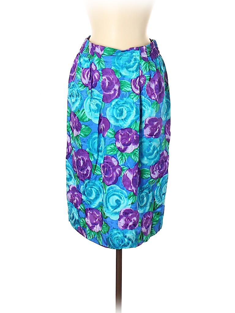 Papell Women Silk Skirt Size 8