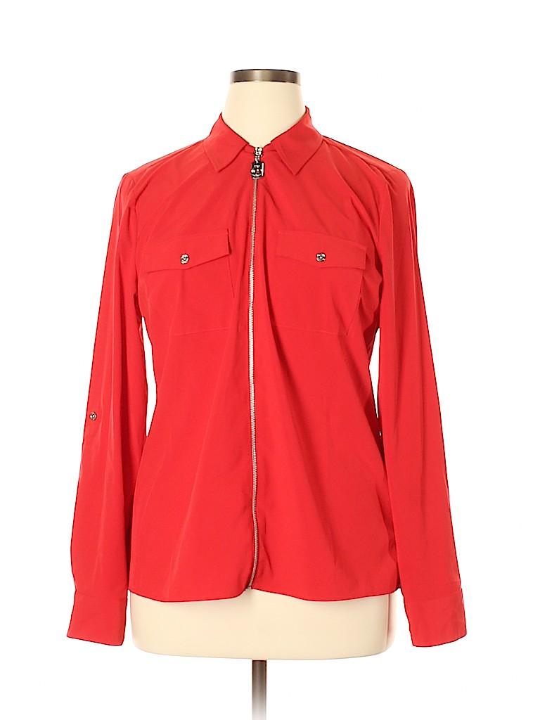 MICHAEL Michael Kors Women Long Sleeve Blouse Size 14
