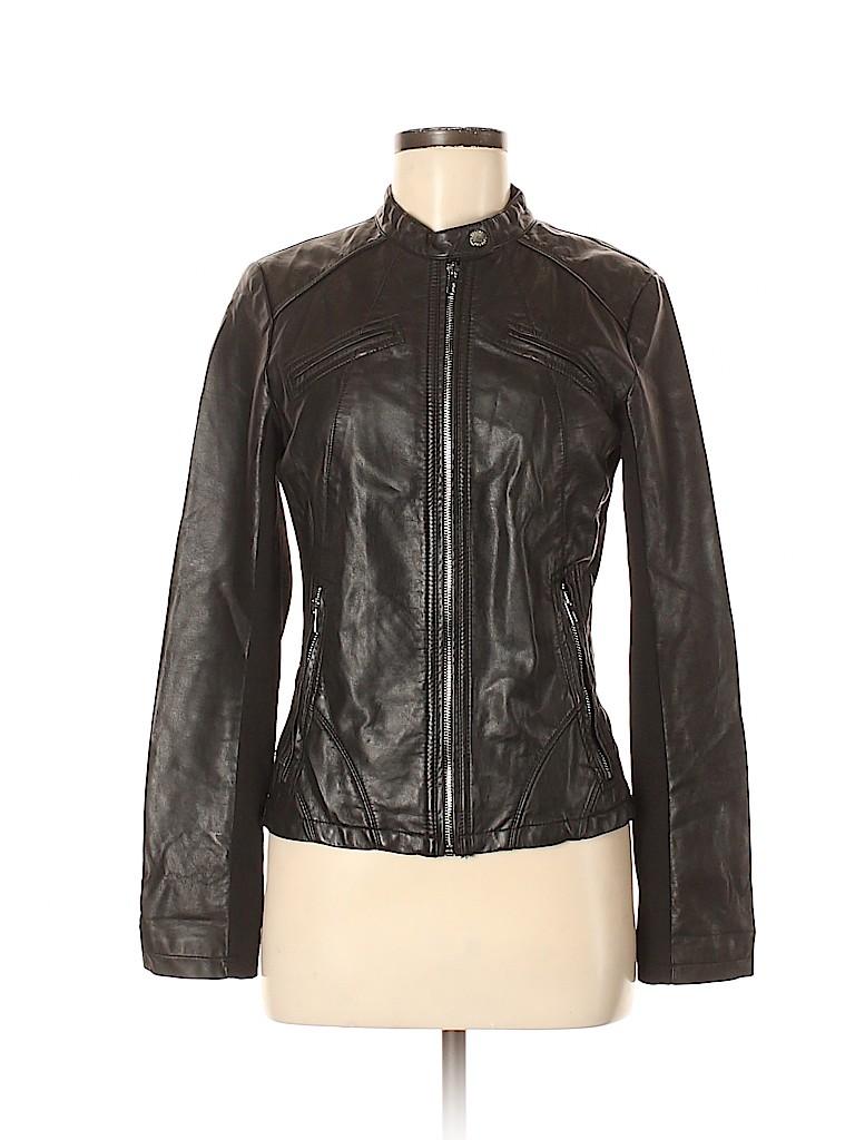 Express Women Faux Leather Jacket Size M