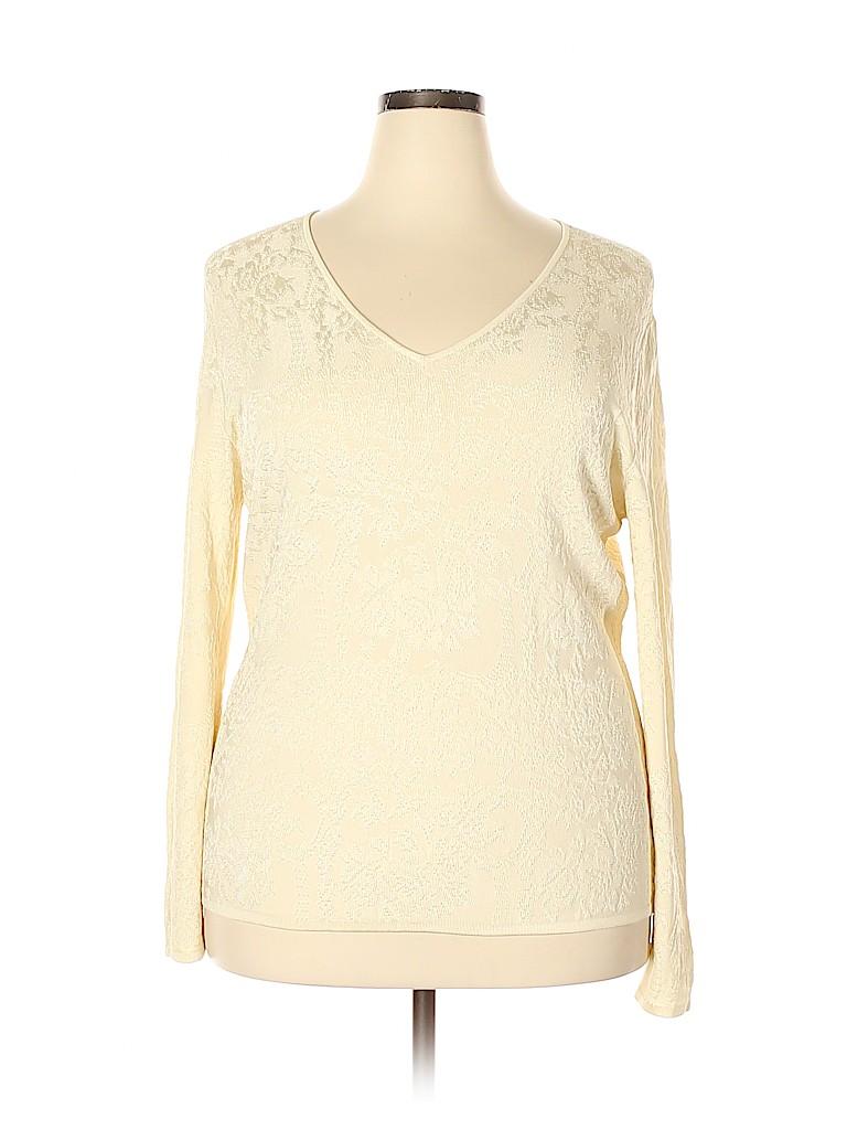 Jones New York Collection Women Long Sleeve Top Size 1X (Plus)