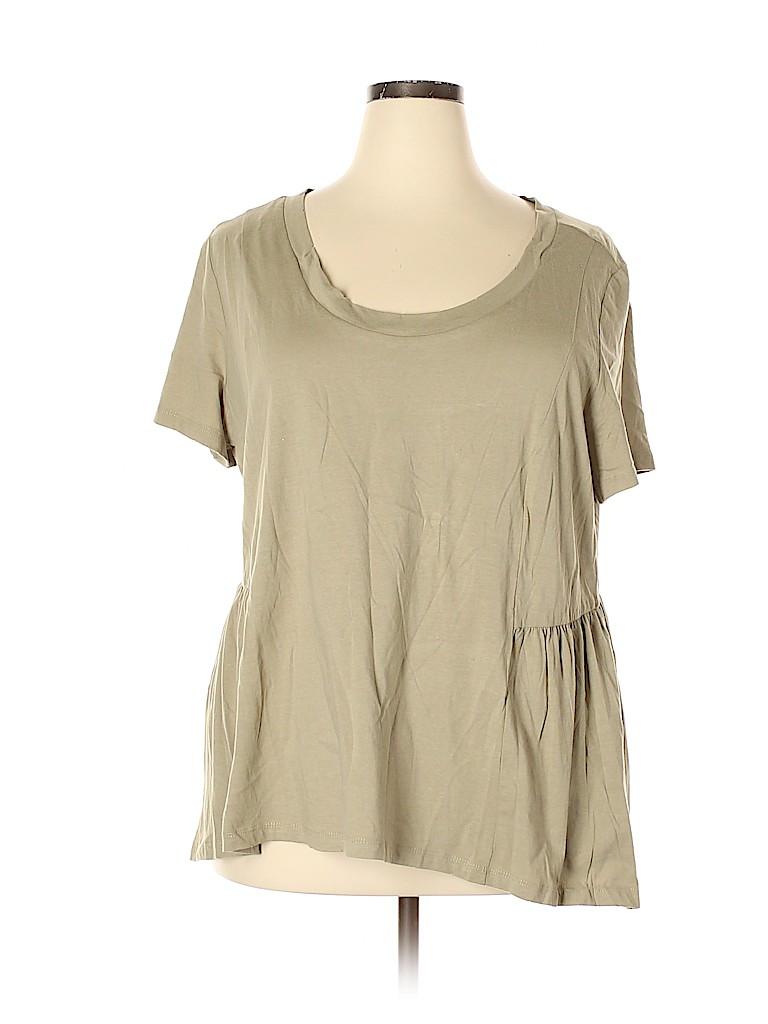 American Rag Cie Women Short Sleeve Top Size 2X (Plus)