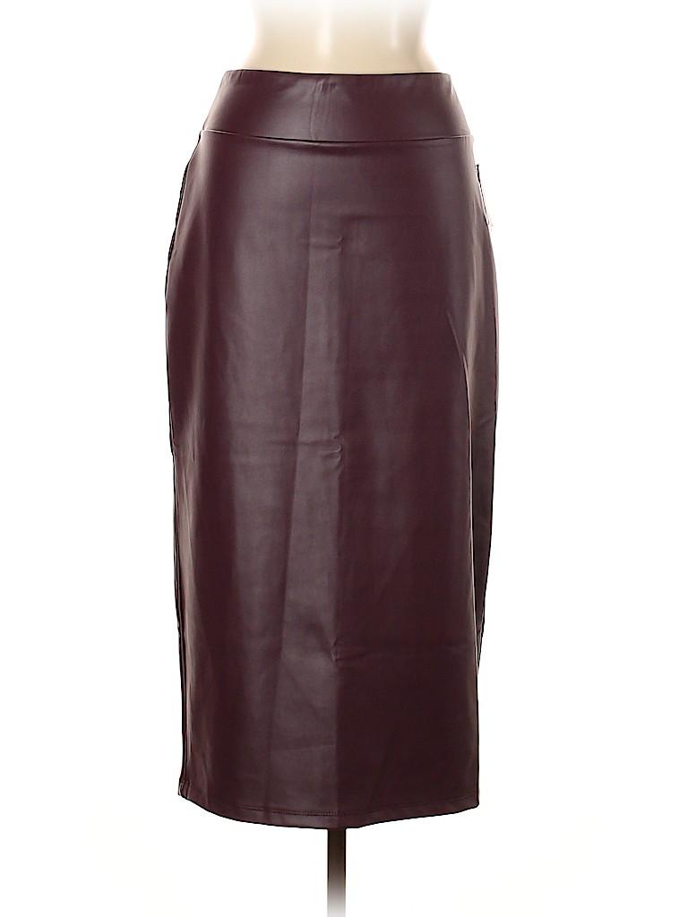 14th & Union Women Faux Leather Skirt Size M