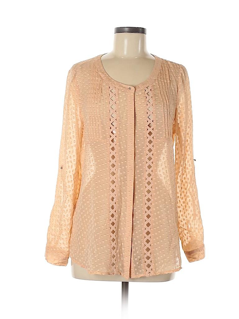 Meadow Rue Women 3/4 Sleeve Silk Top Size M